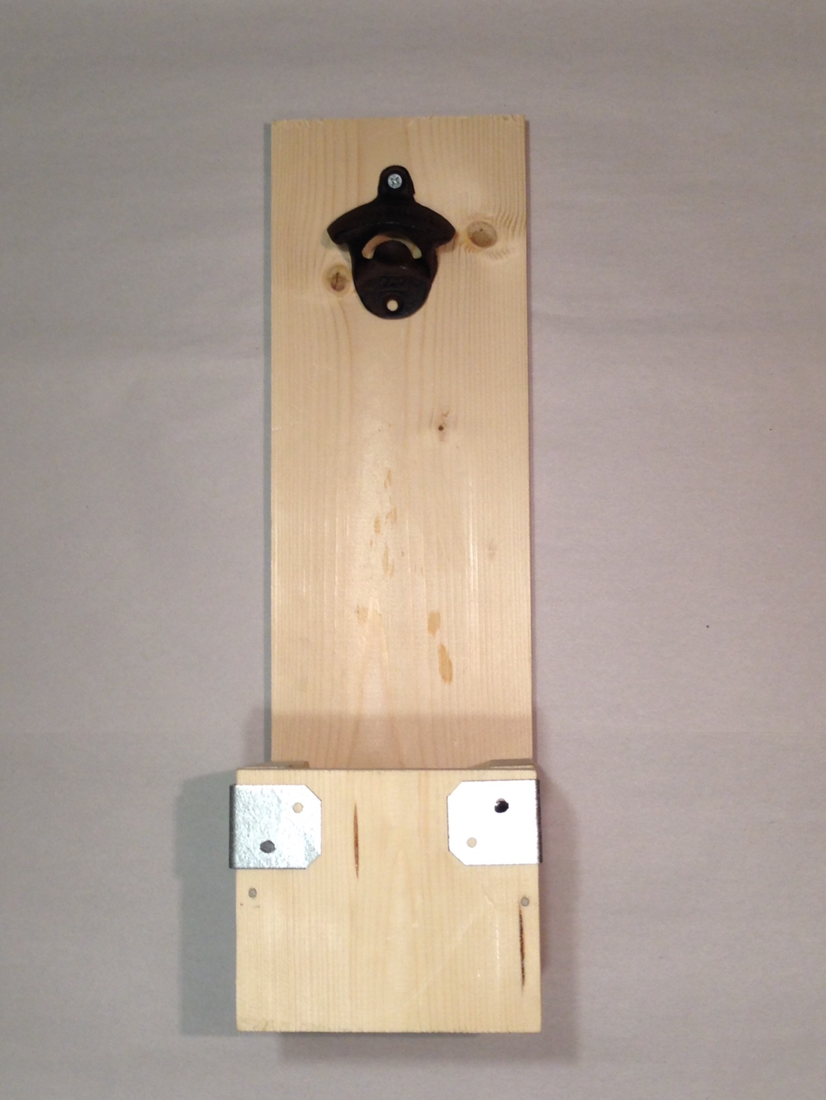 Woody Things Wall Mounted Bottle Opener With Cap Catcher Kit