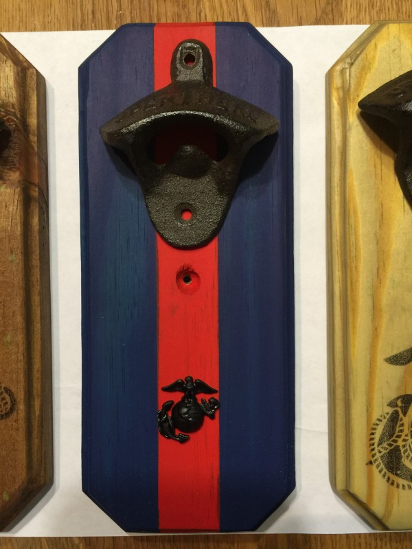 marine corps cast iron bottle opener woody things. Black Bedroom Furniture Sets. Home Design Ideas